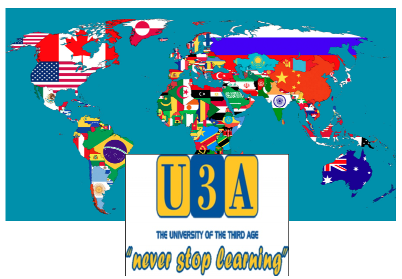 world map for u3a
